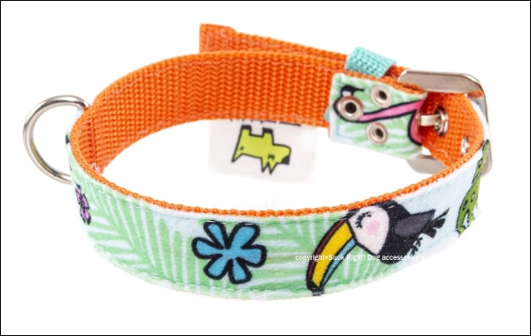 Toucan Blue Dog Collar