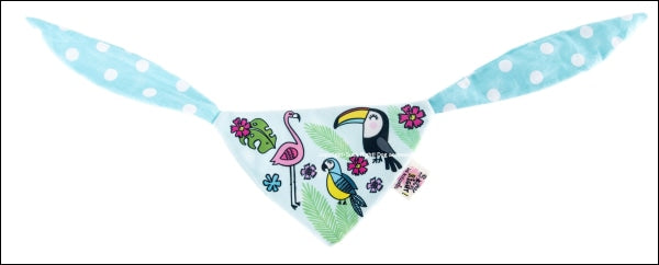 Toucan Dog Scarf Blue