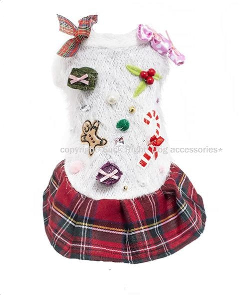 Xmas Gift & Sweets Dog Dress