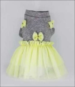 Yellow Pastel Bow Dress