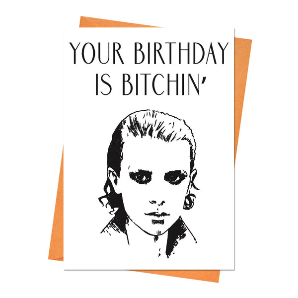 Funny Birthday Card, Stranger Things Birthday Card, Boyfriend Birthday, Husband Birthday Card - Your Birthday is Bitchin' Greeting Card