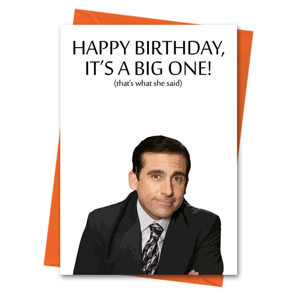Funny Birthday Card, The Office US, Michael Scott, -  That's What She Said Office TV Series Greeting Card