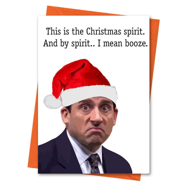 Funny Christmas Card, The Office US, Michael Scott, Funny Holiday Card, Xmas Card, -  This is the Christmas Spirt Office Greeting Card