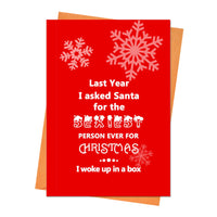 Funny Christmas Card, Funny Holiday Card, Xmas Card, - Last Year I Asked Santa Greeting Card