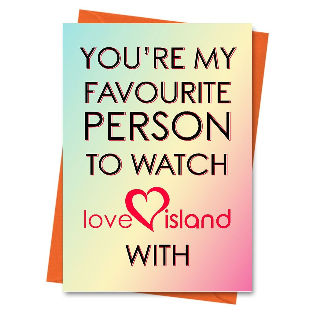 Funny Birthday Card, Love Island Card - Card Her - Card For Him - Boyfriend Card - Girlfriend Card - Birthday - Watch Love Island With