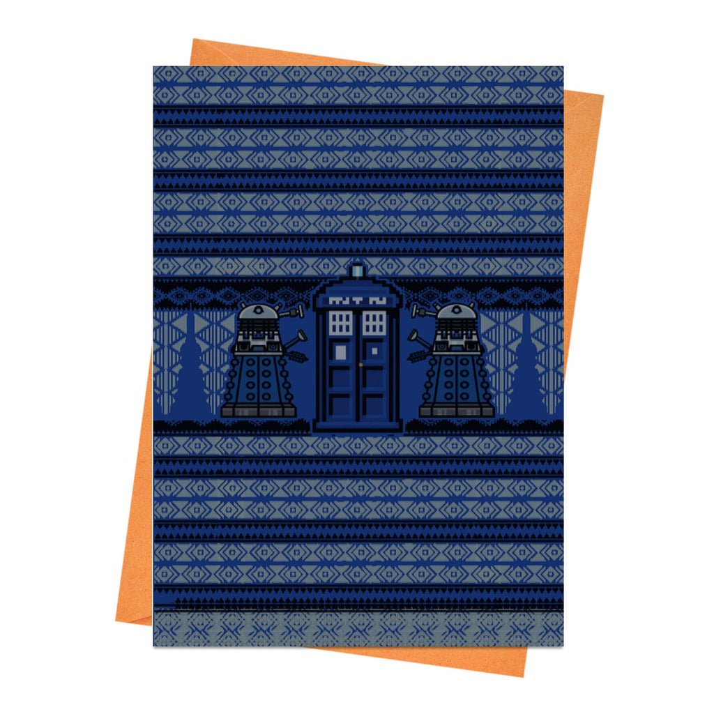 Funny Christmas Card, Funny Holiday Card, Dalek Card, Xmas Card, - Ugly Christmas Jumper Doctor Who Greeting Card