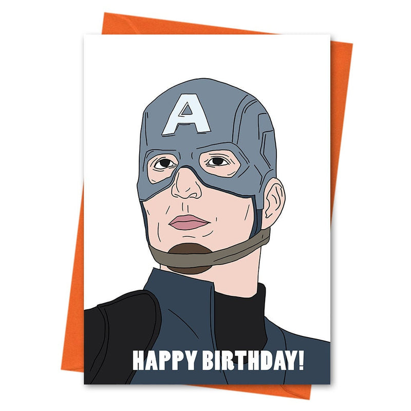 Captain America Birthday Card, Funny Birthday Card, Avengers Card, -  Happy Birthday Greeting Card