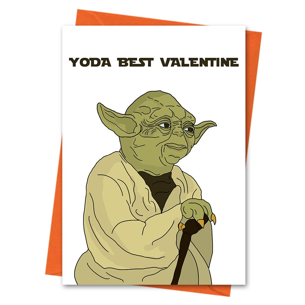 Funny Anniversary Card, Star Wars Funny Love Card, Yoda Card, Yoda Valentine, Valentine Card - Yoda Best Valentine Greeting Card