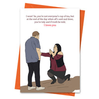 Funny Anniversary Card, Gavin and Stacey Funny Love Card, Valentine Card, Nessa Card, Smithy Card - Truth Be Told I Loves You Greeting Card