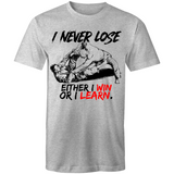 I win or I learn - High Quality Mens BJJ Longline Tees
