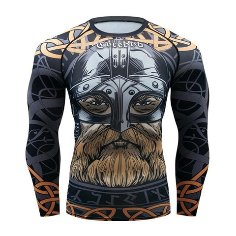 Mens Compression Shirts 3D Game characters Tights Long Sleeve T Shirt  MMA Brand tshirt Fashion Men marvel t shirt Crossfit Tops