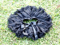 Black Solid Baby Tutu :: New ::