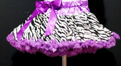 Dark Purple Zebra Print Teen Tutu