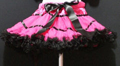 Hot Pink And Black With Trim Tutu