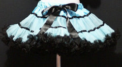 Light Blue And Black With Trim Tutu