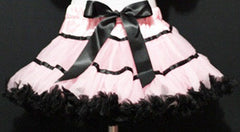 Light Pink And Black With Trim Tutu