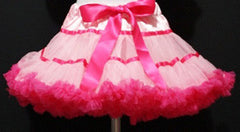 Light Pink And Hot Pink With Trim Tutu