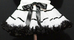 White And Black With Trim Tutu