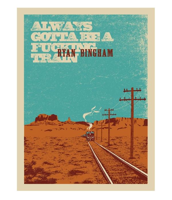 Ryan Bingham Train Screen Printed Poster