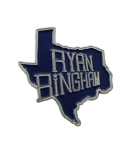Ryan Bingham TX Enamel Pin (Blue)