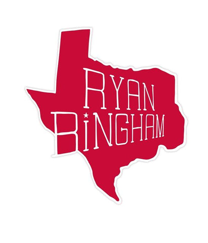 Ryan Bingham TX Sticker (Red)
