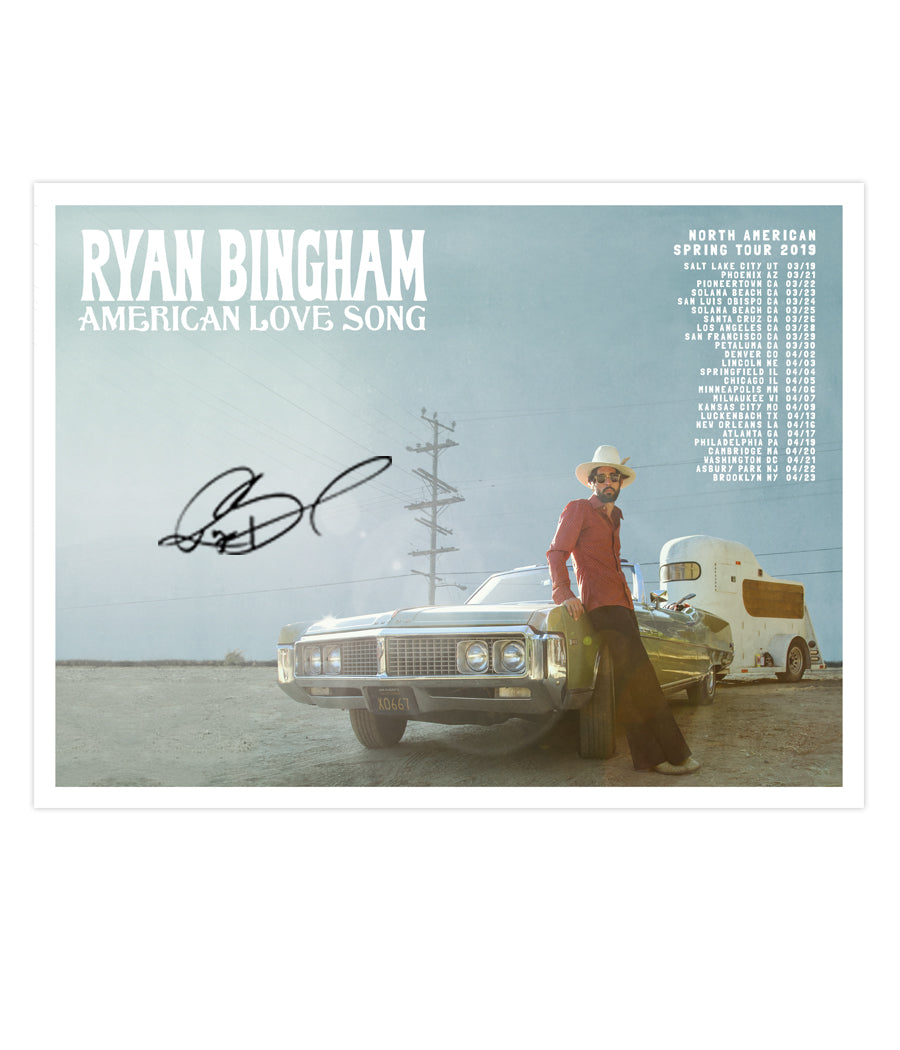Ryan Bingham American Love Song Tour Poster (Signed)