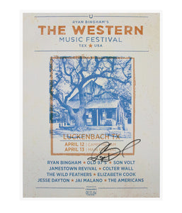 Ryan Bingham The Western Music Festival 2019 Poster (Signed)