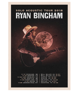 Ryan Bingham Solo Acoustic Tour 2018 Poster (Signed)