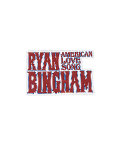 Ryan Bingham American Love Song Sticker (Red)
