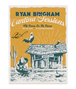 Ryan Bingham Cantina Session 5/28 Poster (Signed) *PREORDER - SHIPS EARLY JULY 2020