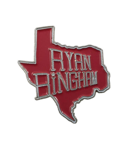 Ryan Bingham TX Enamel Pin (Red)