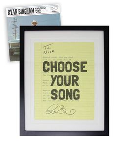 Ryan Bingham Personalized Hand Written Lyrics - American Love Song PREORDER - PERSONALIZED ITEM