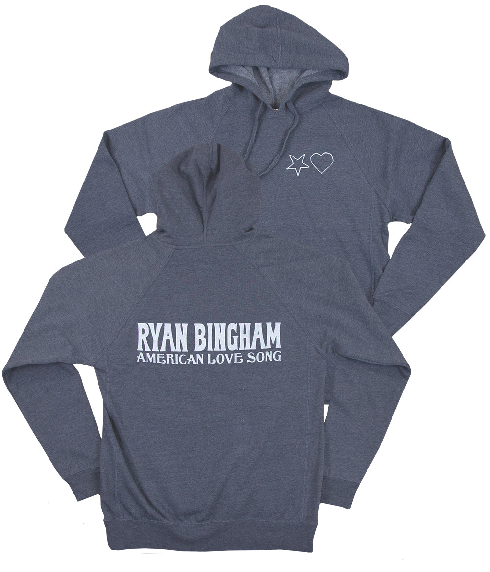 Ryan Bingham American Love Song Hooded Sweatshirt (Heather Navy)
