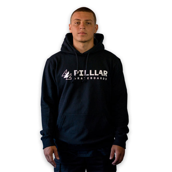 PILLLAR Logo Black Hoodie - PILLLAR Skateboards