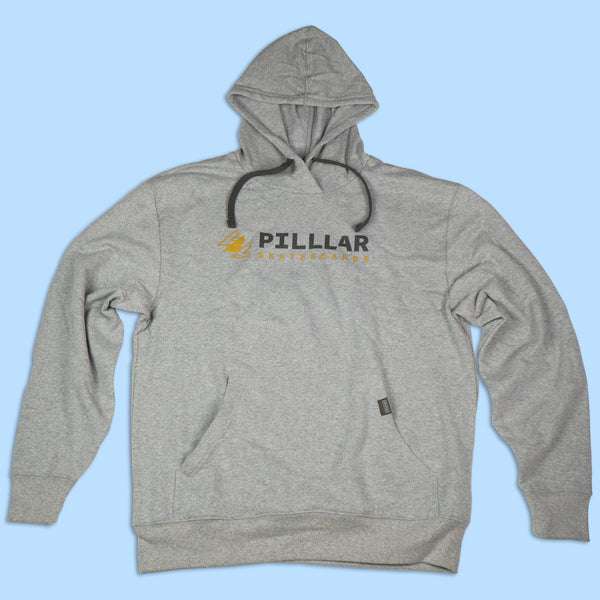 PILLLAR Logo Grey Hoodie - PILLLAR Skateboards