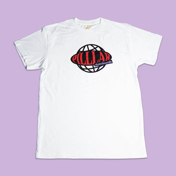 PILLLAR Globe Tee - PILLLAR Skateboards