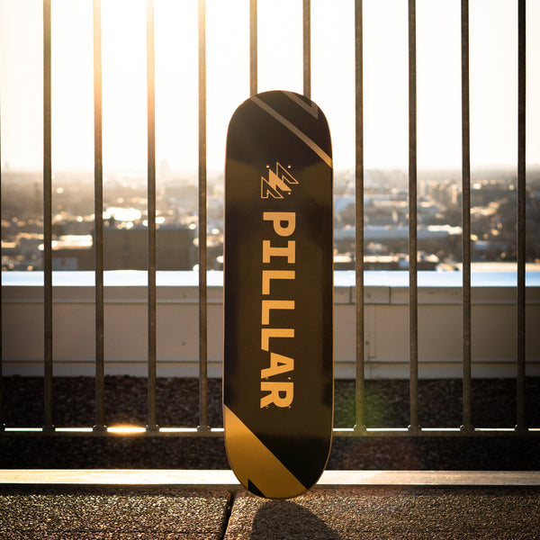 PILLLAR Logo Gold - PILLLAR Skateboards
