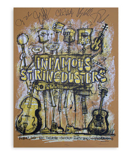 The Infamous Stringdusters 2-7-2020 VIC Chicago Poster (Signed)