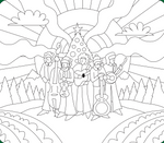 The Infamous Stringdusters Holiday Coloring Page