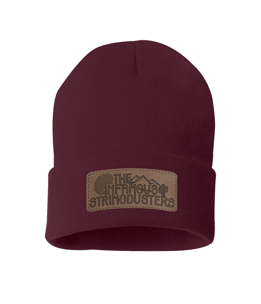 The Infamous Stringdusters Leather Patch Beanie