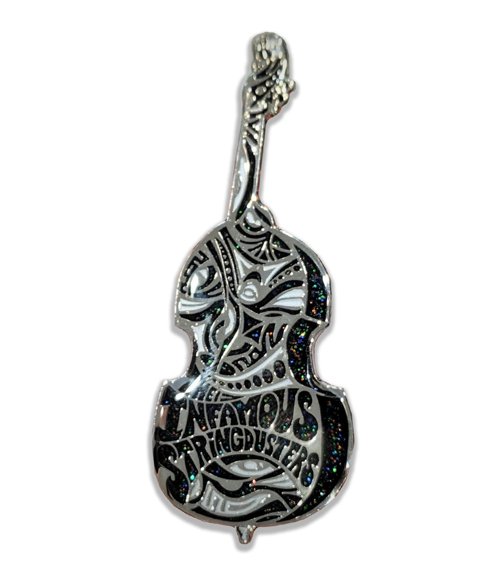 The Infamous Stringdusters Upright Bass Pin (Silver Deep Space - Ltd to 100)
