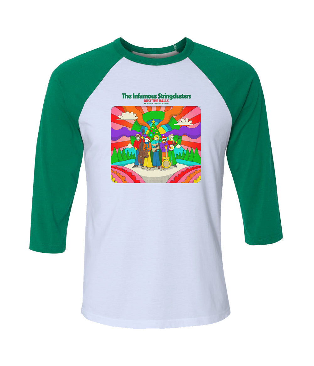 The Infamous Stringdusters Dust the Halls Raglan (Green Sleeves) **PREORDER - SHIPS 12/11