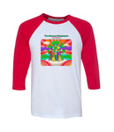 The Infamous Stringdusters Dust the Halls Raglan (Red Sleeves)