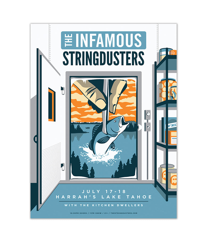 The Infamous Stringdusters July 17th & 18th 2018 Tahoe Poster