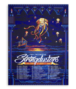 The Infamous Stringdusters Laws Of Gravity Tour Poster