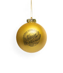 The Infamous Stringdusters Gold Christmas Ornament