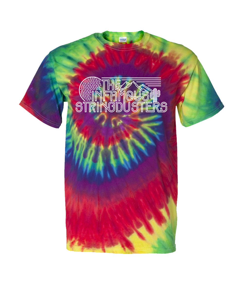 The Infamous Stringdusters Rainbow Tie Dye Shirt