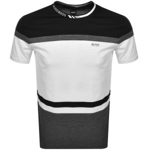 Regular-fit T-shirt with colour-block stripes TEE 8