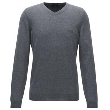 Hugo Boss Gents Vallum Merino Sweater Grey