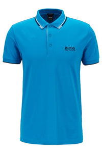 Paddy Pro Regular fit piqué polo shirt with quick-dry technology Blue
